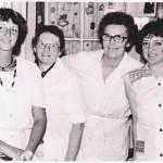 Ines, Frau Kipsch, Hilde und Heike
